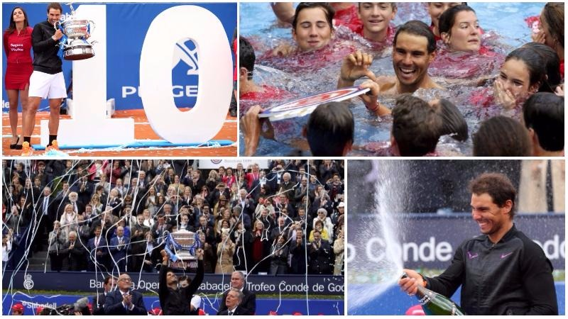 PHOTOS: Red-hot Nadal celebrates 'dream' 10th Barcelona Open win in style