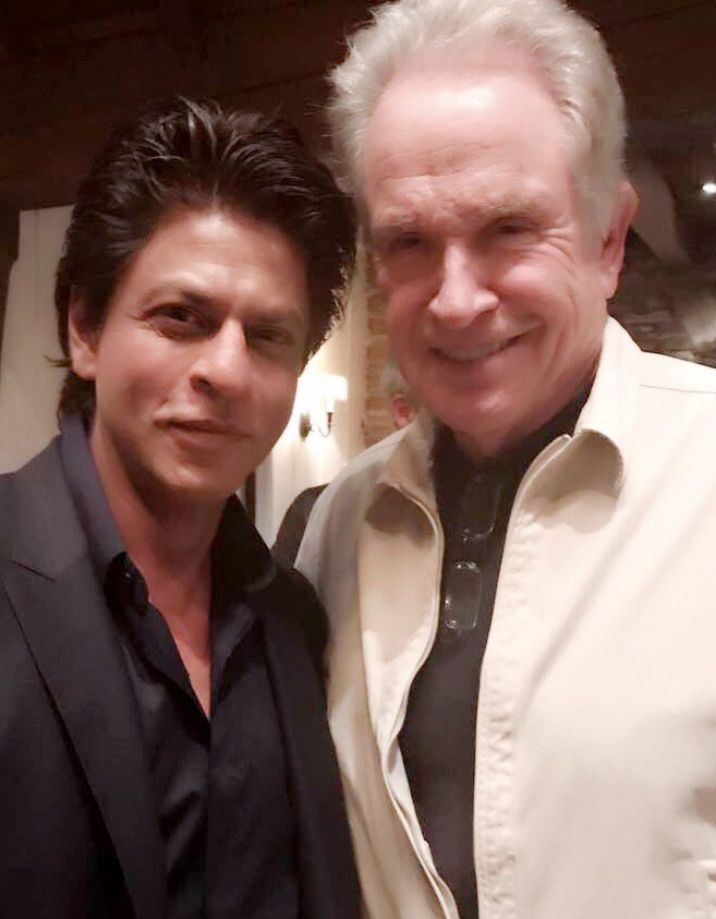 Shah Rukh Khan meets Hollywood legend Warren Beatty