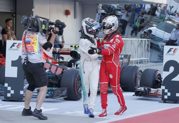 Bottas beats Vettel for first F1 win in Russia