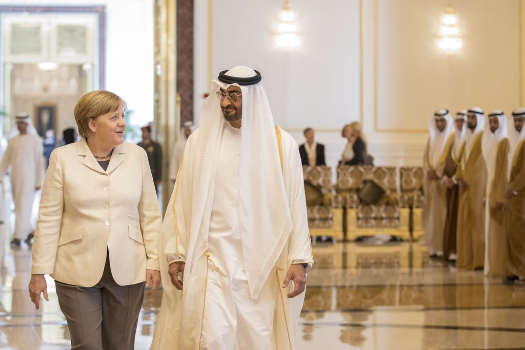 German Chancellor arrives in Abu Dhabi