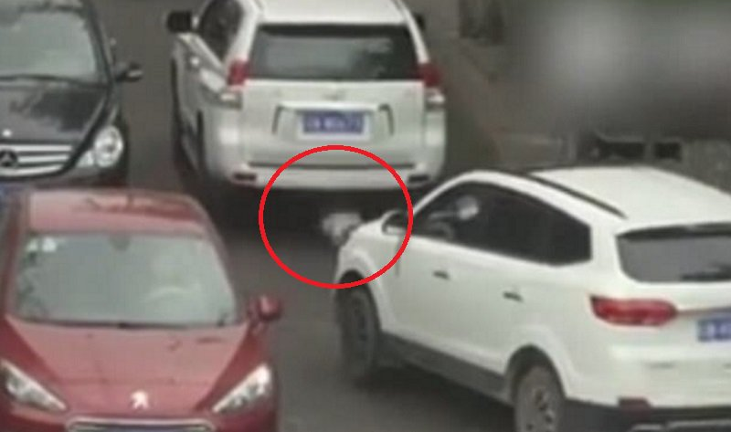 VIDEO: Toddler in China survives being run over by two SUVs