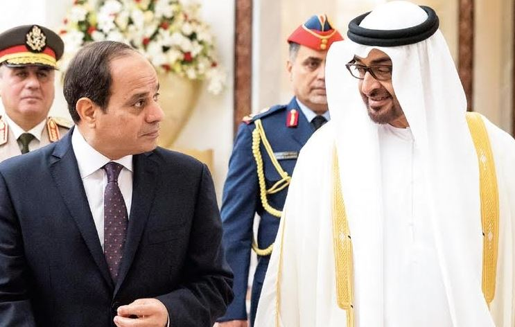 Abu Dhabi Crown Prince, Egyptian President hold talks