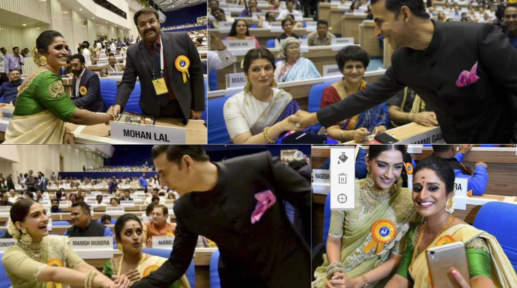 Candid behind-the-scenes photos from the National Film Award ceremony!