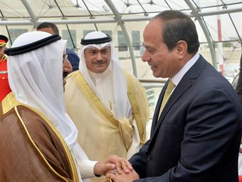 Egyptian President Sisi arrives in Kuwait