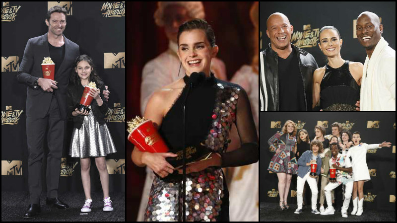 In Pictures: 'Stranger Things,' 'Beauty and the Beast' win big at MTV awards