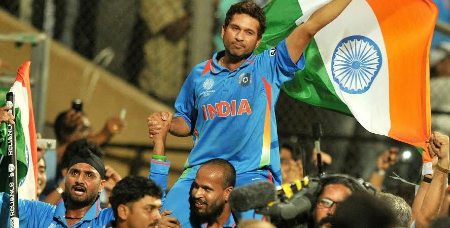 Chants in Sachin anthem in film 'Sachin: A Billion Dreams' recorded from live feeds