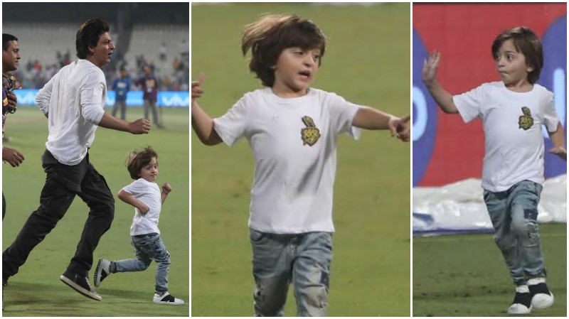 Shah Rukh Khan's candid pictures with AbRam at Eden gardens are super cute!