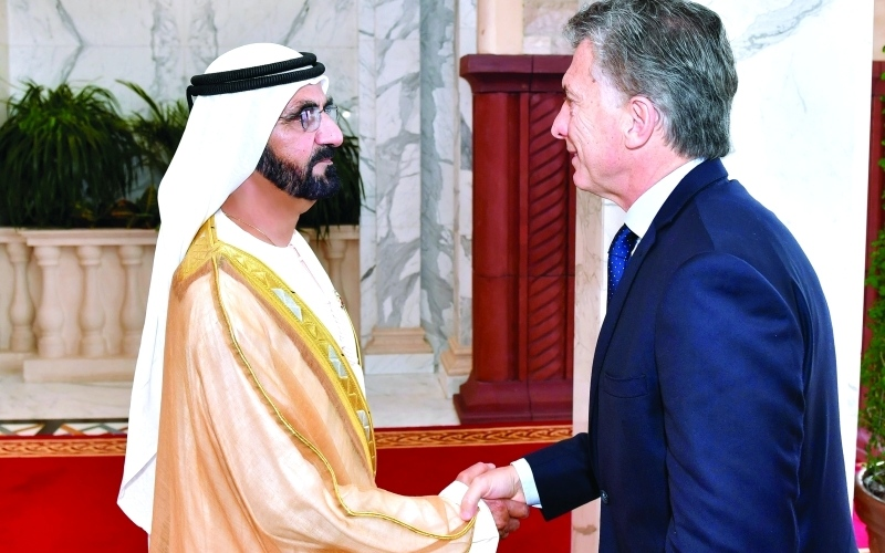 Joint co-operation in focus as Dubai Ruler meets Argentinian President