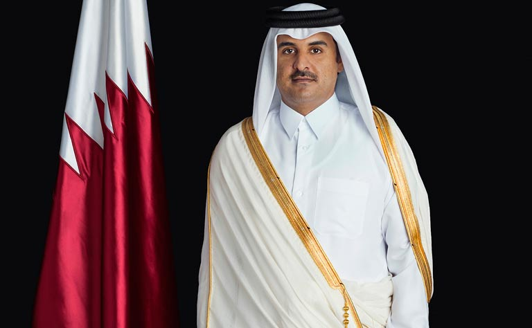 Qatari ruler and US Secretary of State review joint ties