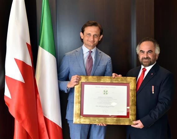 GPIC president receives Italian honour