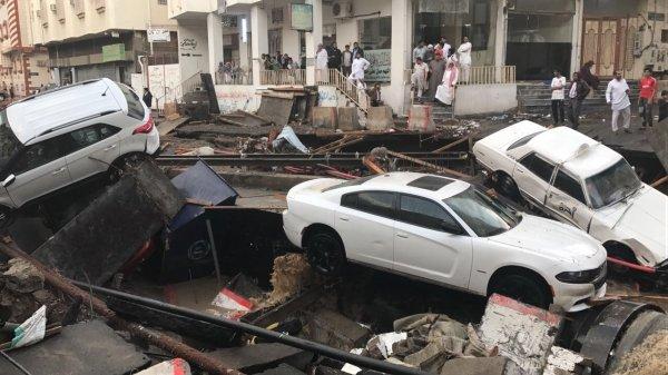Photos: Torrential rain wreaks havoc on properties in Taif