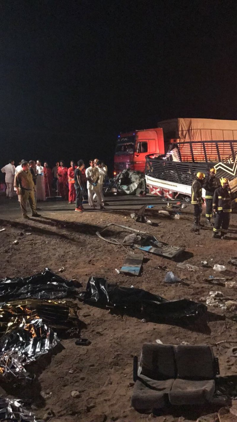 Six pilgrims killed, 20 injured in road accident