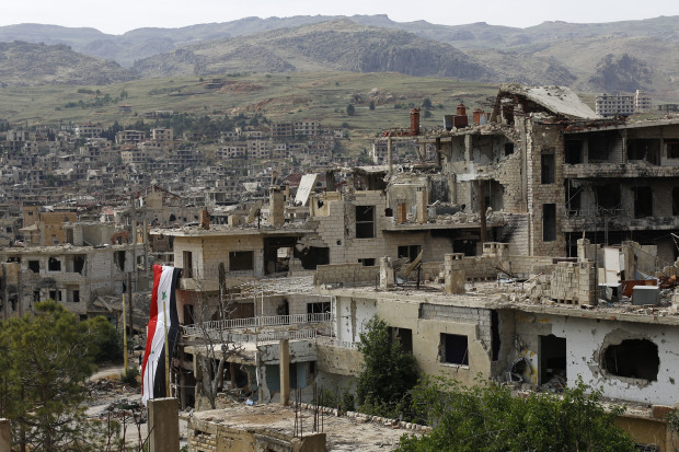 US-led warplanes hit Syria forces