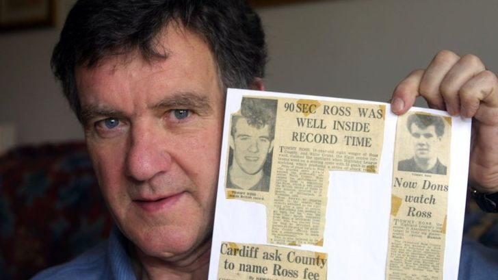 Record speed hat-trick scorer Ross dies