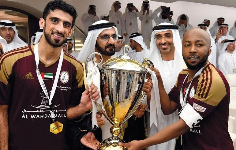 Dubai ruler presents trophy to Al-Wehda Sports Club