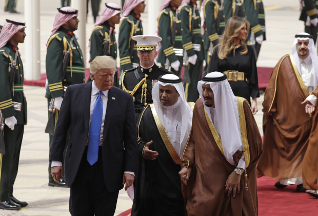 In Pictures: Trump lands in Riyadh on first leg of foreign tour