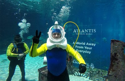 Atlantis The Palm, Channel 4 set Guinness record