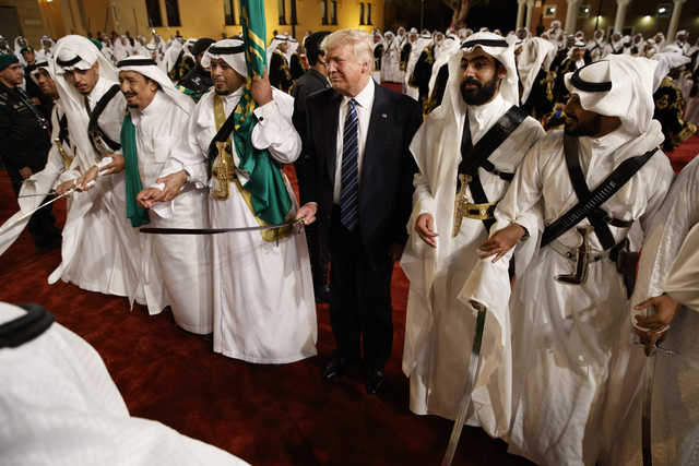 VIDEO: Trump takes part in traditional ardha dance in Saudi Arabia