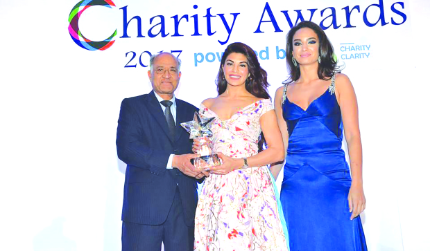 Bollywood actress Jacqueline Fernandez wins global award for charity