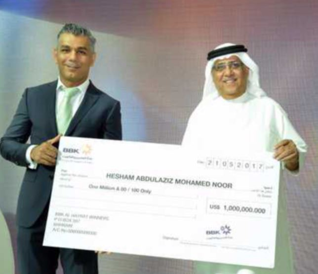 Bahraini pilot becomes instant millionaire in raffle draw