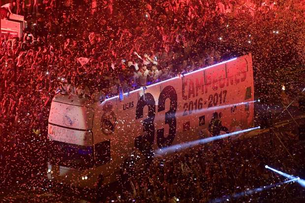 In Pictures: Thousands flock to Madrid as Real celebrate title