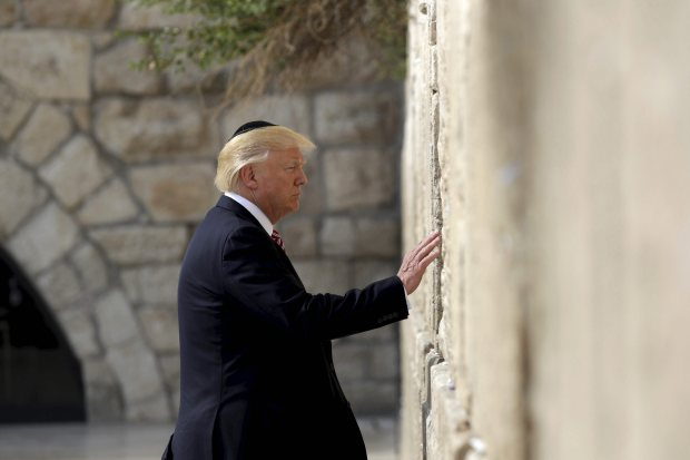 In Pictures: Trump's Yad Vashem visit highlights mixed Holocaust record