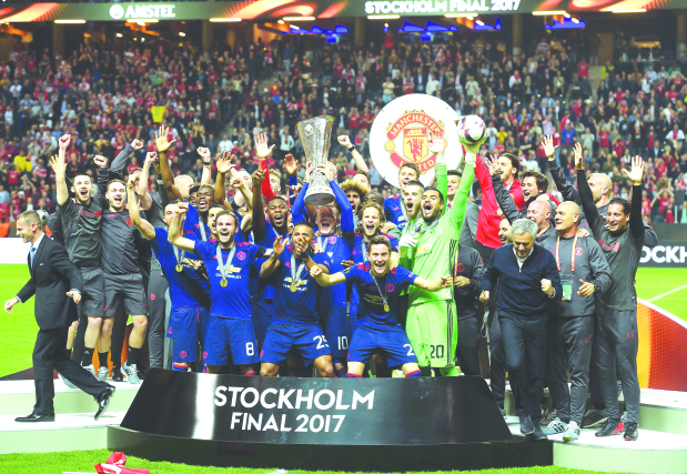 Emotional win as Manchester United lift Europa League title