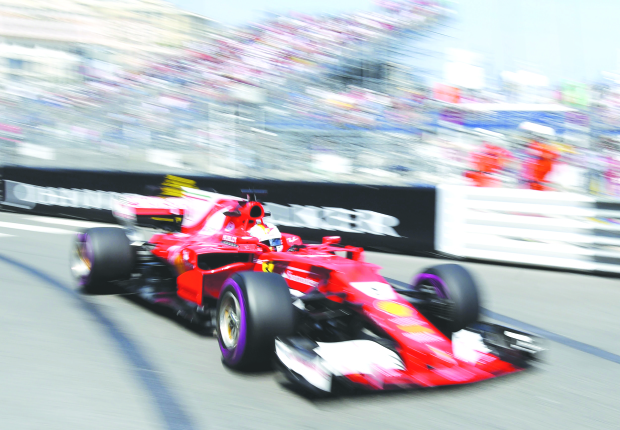 Vettel sets the pace in Monaco GP practice