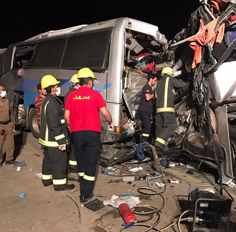 Six pilgrims killed, 48 injured in bus collision