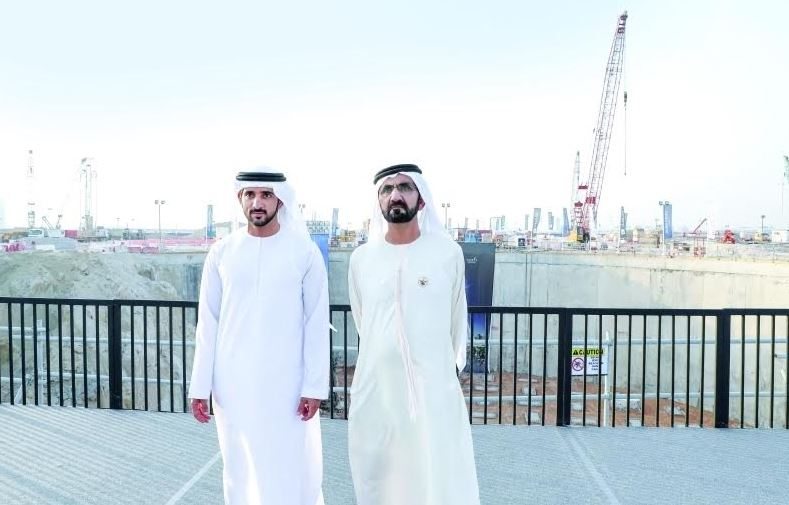 Dubai ruler inspects progress of new tower project