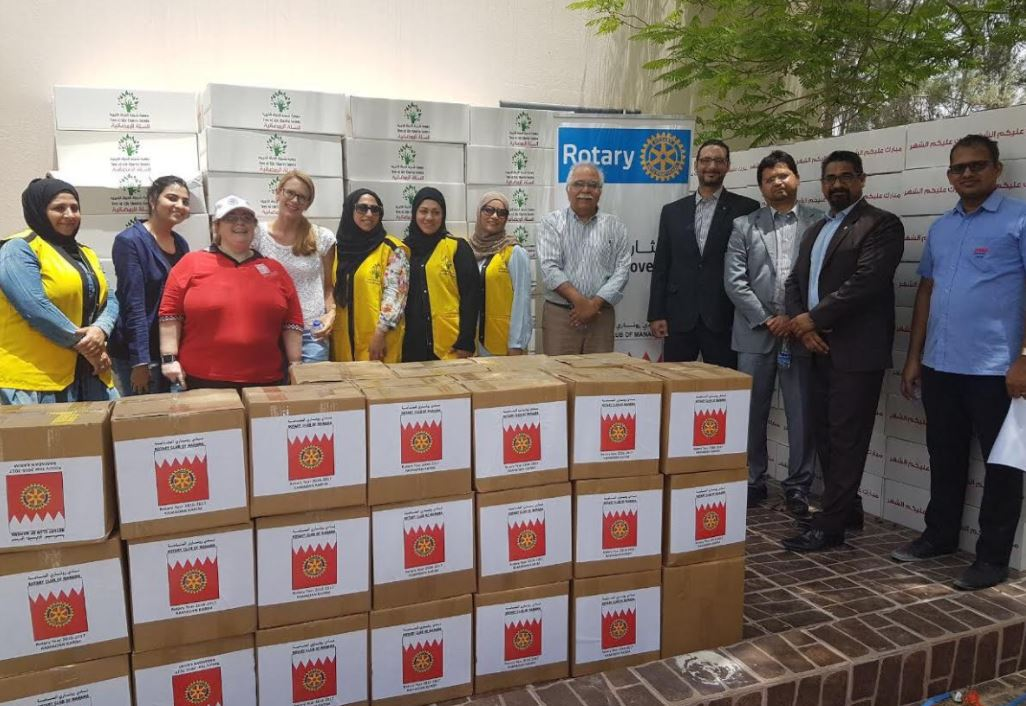 Rotary Club of Manama initiates Ramadan food box drive