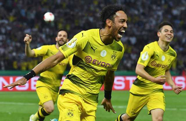 Aubameyang seals Dortmund German Cup final win