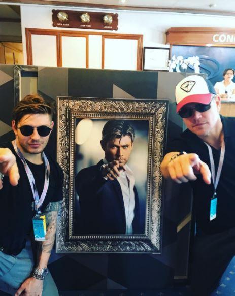 Candid photos from Chris Hemsworth and Matt Damon's 'bromantic' weekend in Monaco