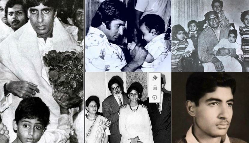 Abhishek's Instagram is a treasure trove of vintage photos of the Bachchan family