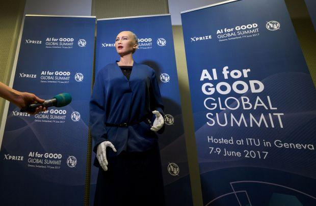 AI 'good for the world'... says ultra-lifelike robot