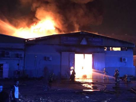 Six warehouses catch fire in Ajman