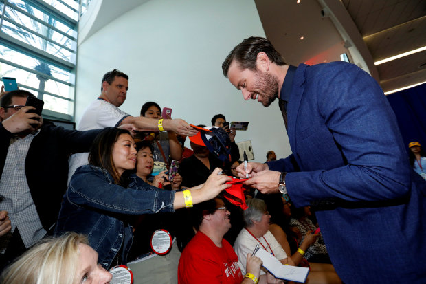 Photos: Armie Hammer brings his adorable kids to the 'Cars 3' premiere