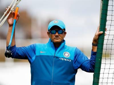 Kumble stays as coach for Windies tour