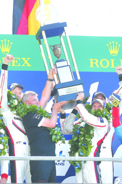 'Hat-trick' joy for Porsche at Le Mans