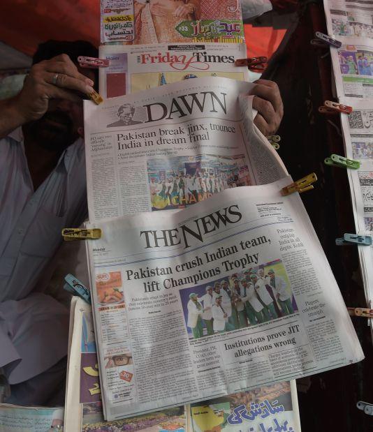 Pakistan media hail champions