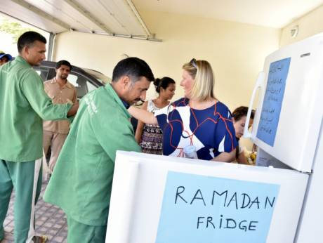 Dubai activists stock public fridges for needy during Ramadan