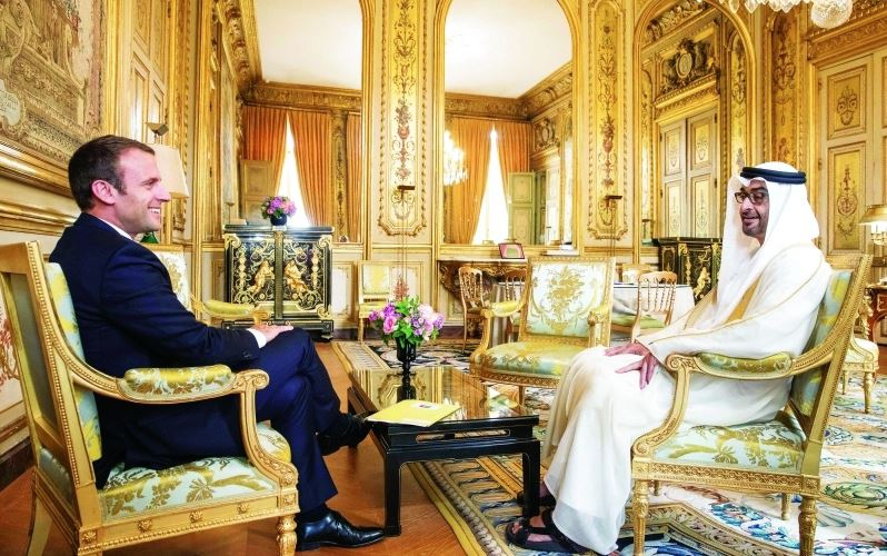 Abu Dhabi Crown Prince holds key talks in France