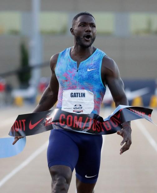 Veteran Gatlin puts Coleman in his place