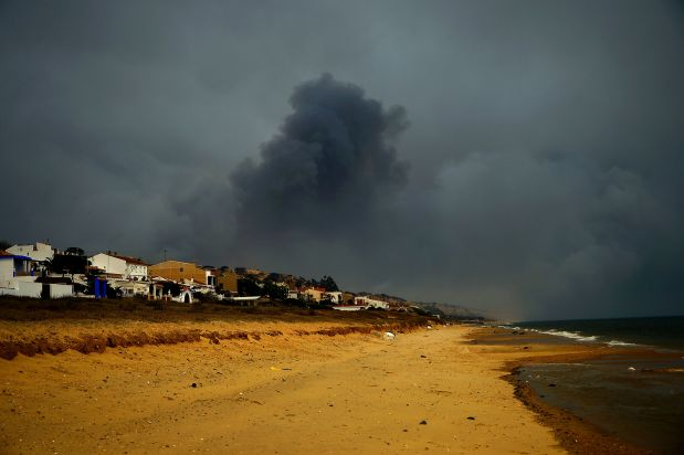 PHOTOS: Forest fire in Spain threatens renowned national park