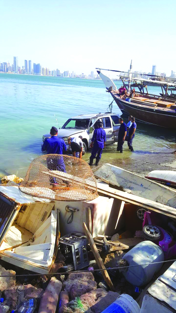 Two rescued after vehicle falls into sea