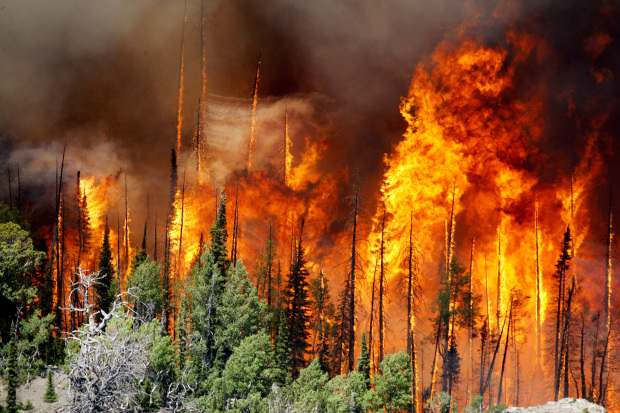 Firefighters battle intense wildfires in Utah, California