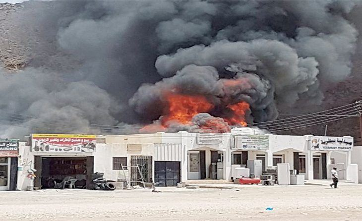 Fire breaks out at industrial zone in Oman