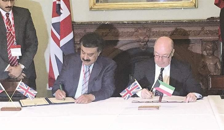 Kuwait, UK vow to boost cooperation