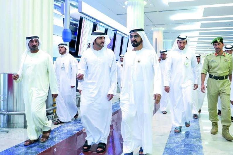 Dubai ruler tours international airport