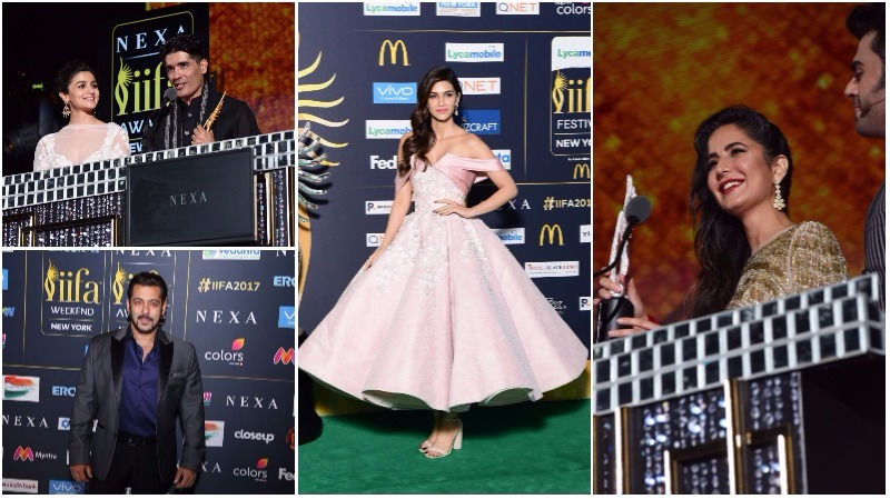 PHOTOS: Salman Khan, Alia Bhatt, Katrina Kaif rock the green carpet at IIFA Rocks 2017!